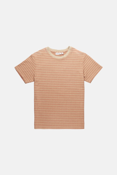TEXTURED STRIPE T-SHIRT CLAY