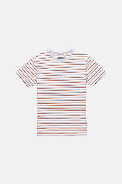 TEXTURED STRIPE T-SHIRT VINTAGE BLUE