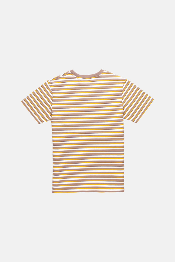 TEXTURED STRIPE T-SHIRT VINTAGE BROWN
