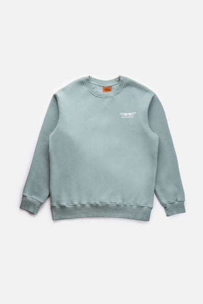 Essential Sundown Vintage Fleece Crew Light Teal