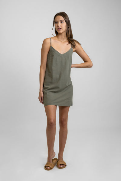Classic Mini Dress Olive