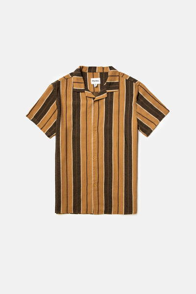 Vacation Stripe Ss Shirt Baked Clay