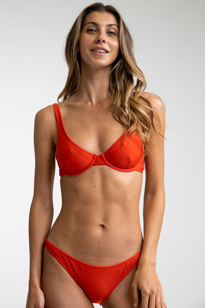 Eco Underwire Top Paprika