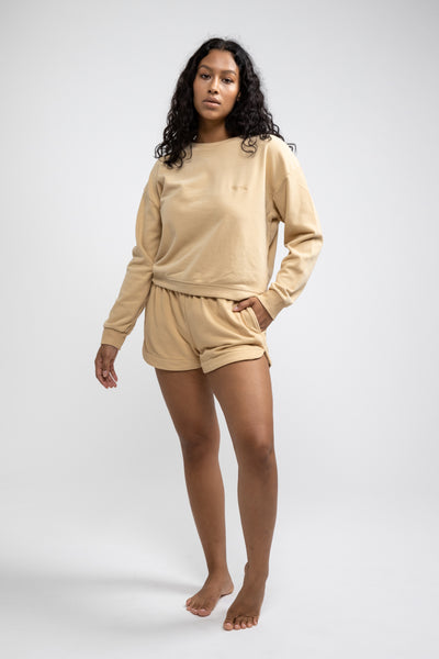 Laguna Fleece Short Tan