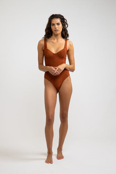 Shine Underwire One Piece Bronze