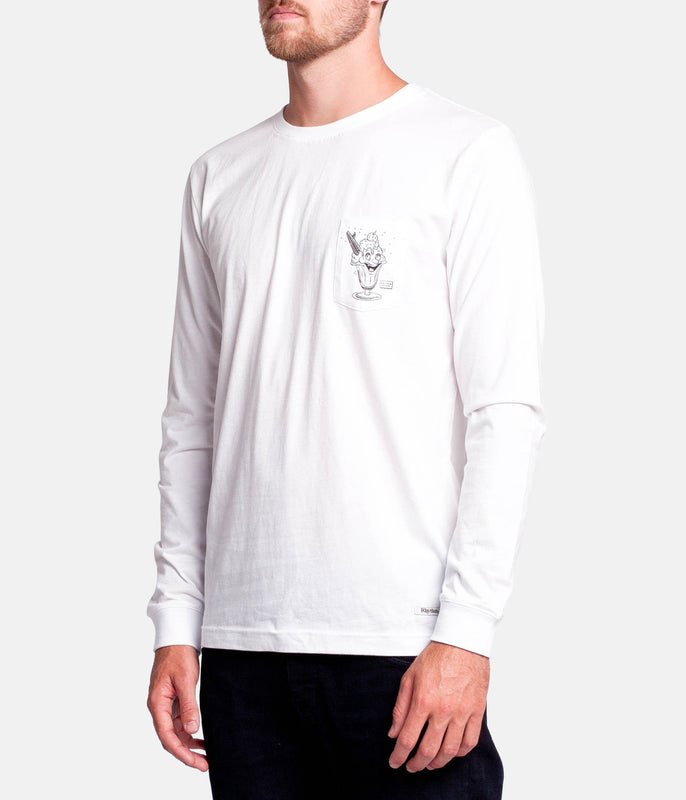 SALTED LS T-SHIRT WHITE