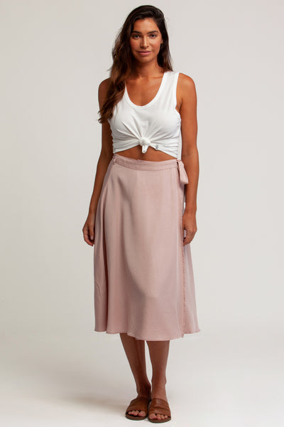 Saltwater Wrap Skirt Blush