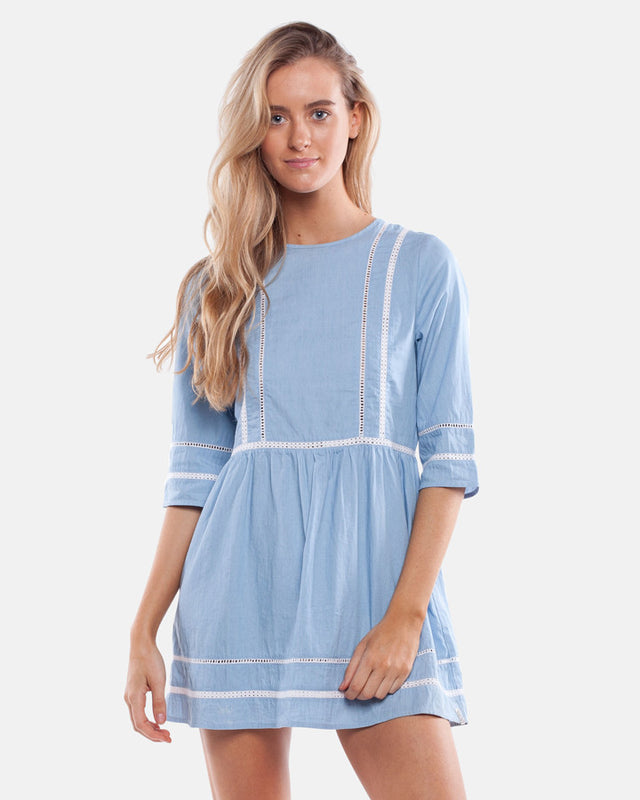 SEASCAPE DRESS SUNBLEACH