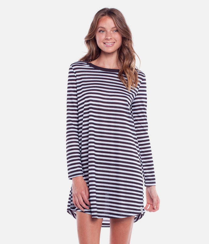 STROKES L/S DRESS ROCK