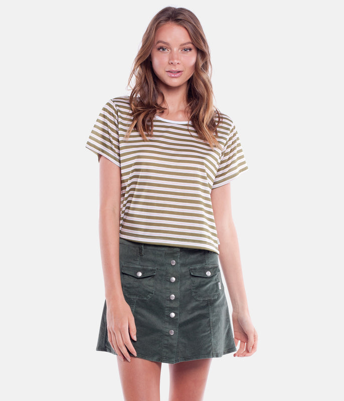 STROKES TEE OLIVE