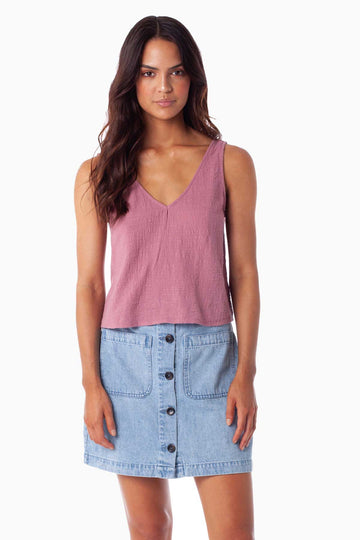 Sundown Top Mauve