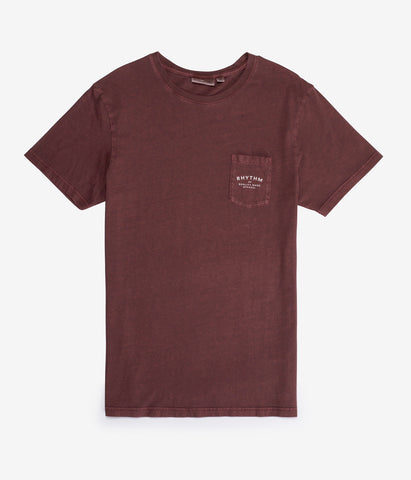 POCKET T-SHIRT VINTAGE RED WASH