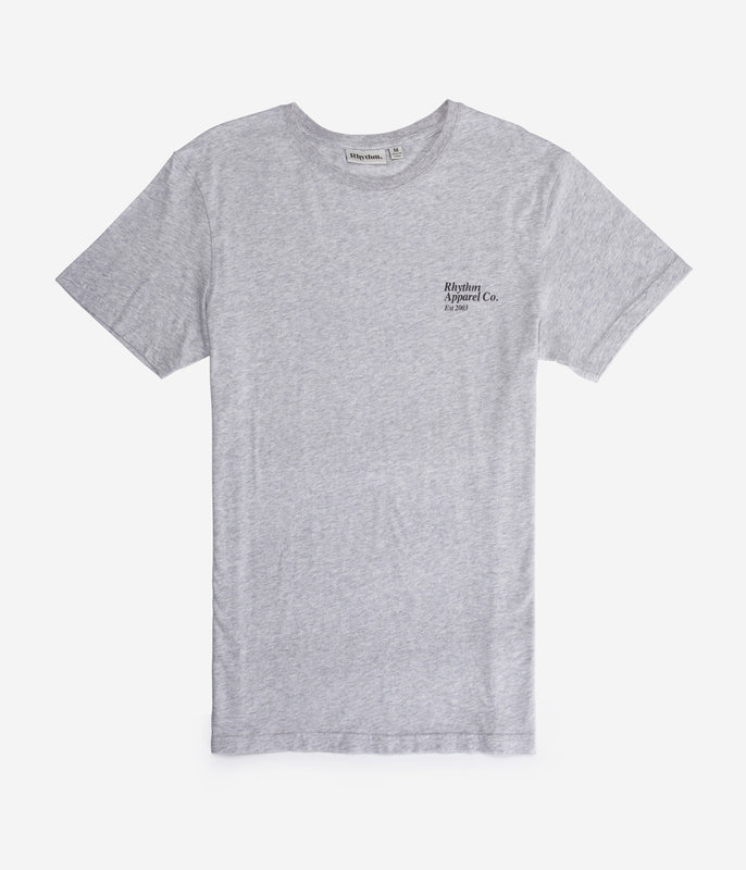 LABEL T-SHIRT GREY MARLE