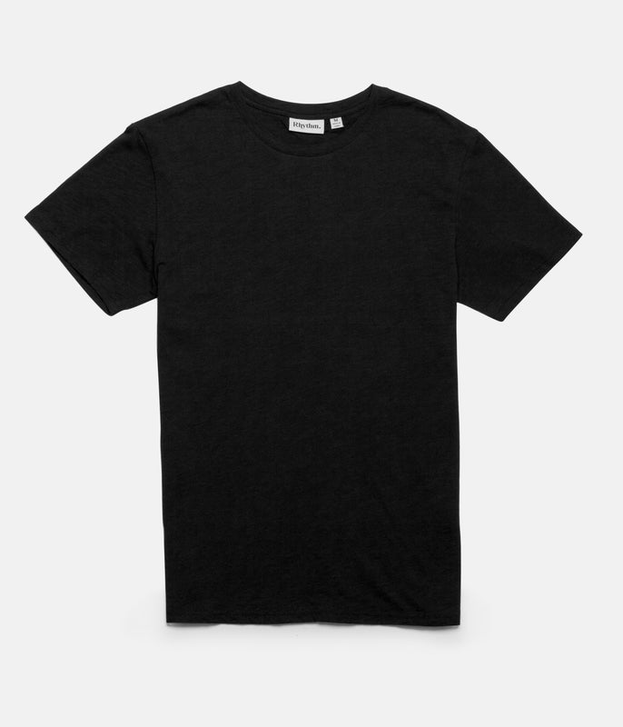 BASIC SLUB T-SHIRT BLACK