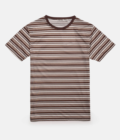 EVERYDAY STRIPE T-SHIRT PANAMA BROWN