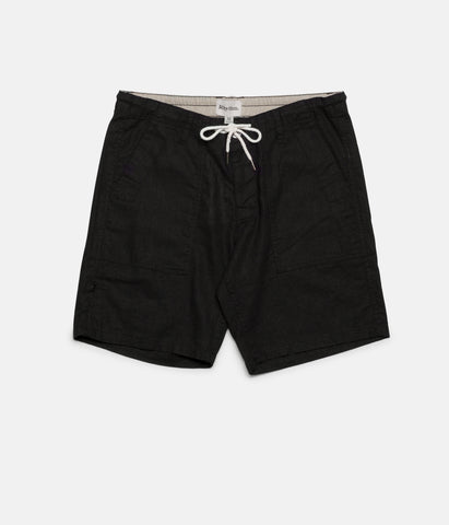 LINEN BUNKER WALKSHORT BLACK