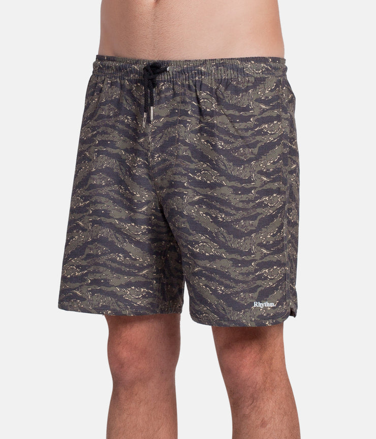 TIGERSTRIPE BEACH SHORT OLIVE