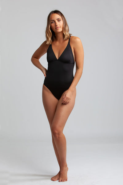 Seaside Tall Tri One Piece Black