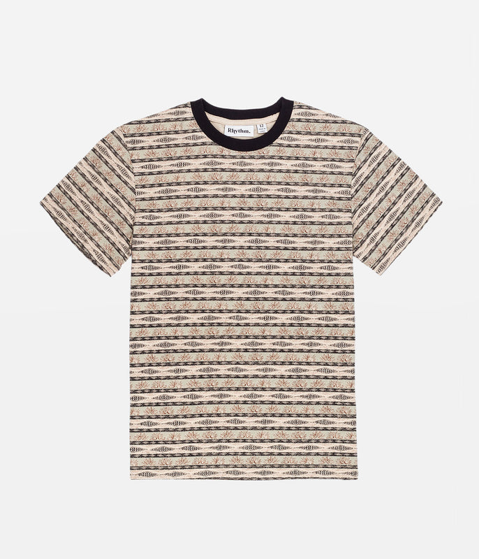 BOYS TRIBE STRIPE T-SHIRT OLIVE