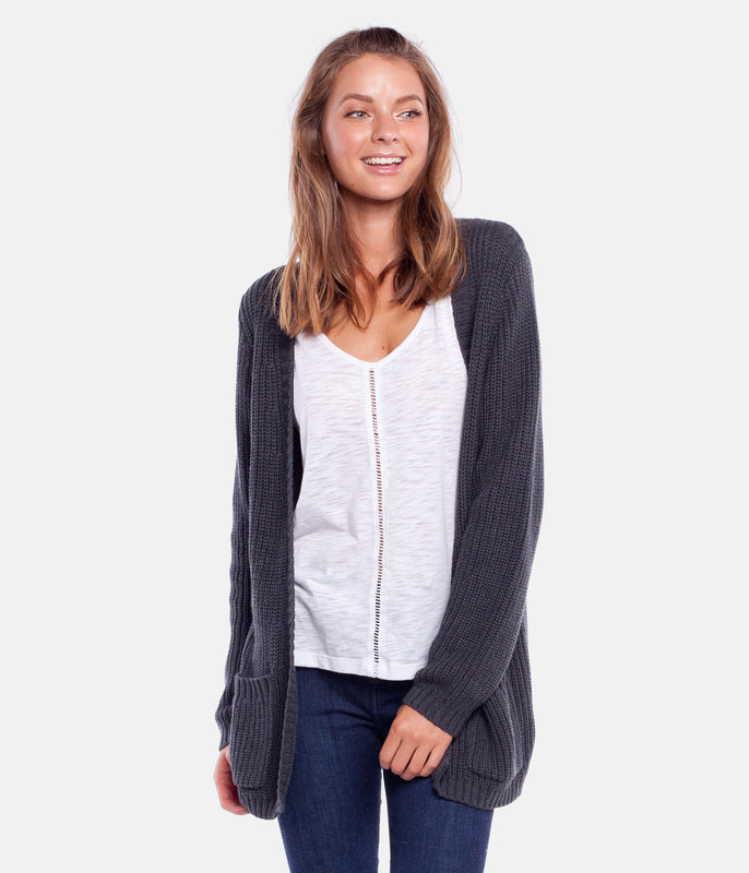 WEEKEND CARDI KNIT CHARCOAL