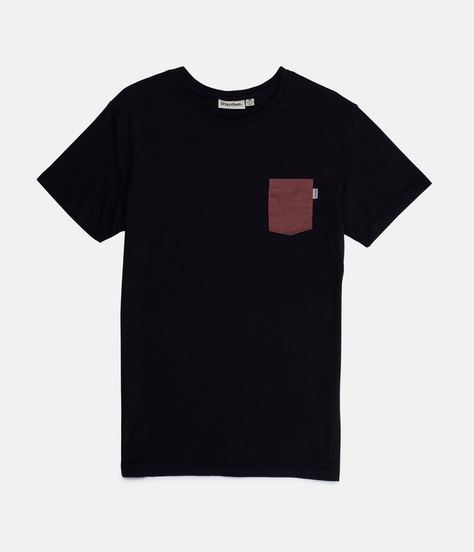 BASIC T-SHIRT BLACK / RED