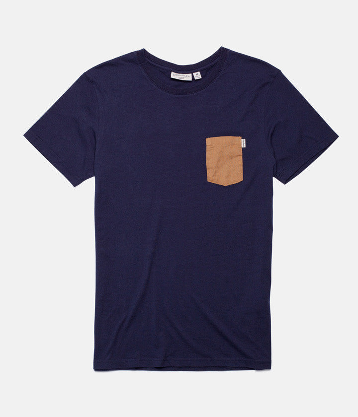 BASIC T-SHIRT NAVY / TAN