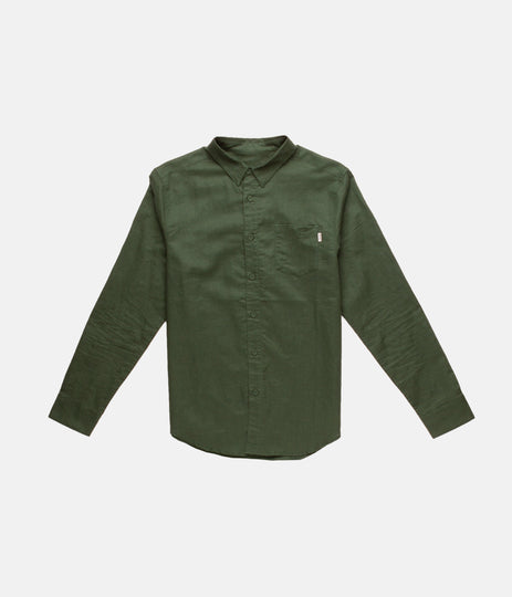 FIRST EDITION APARTMENT LS SHIRT DARK GREEN