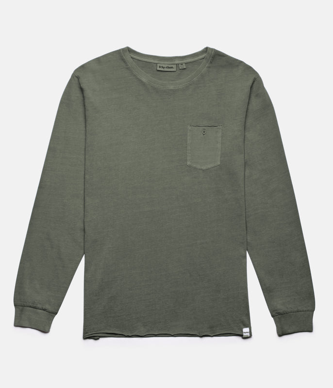 EVERDAY WASH LS T-SHIRT OLIVE