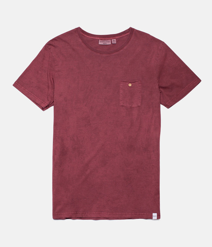 EVERYDAY WASH T-SHIRT DUSTED RED