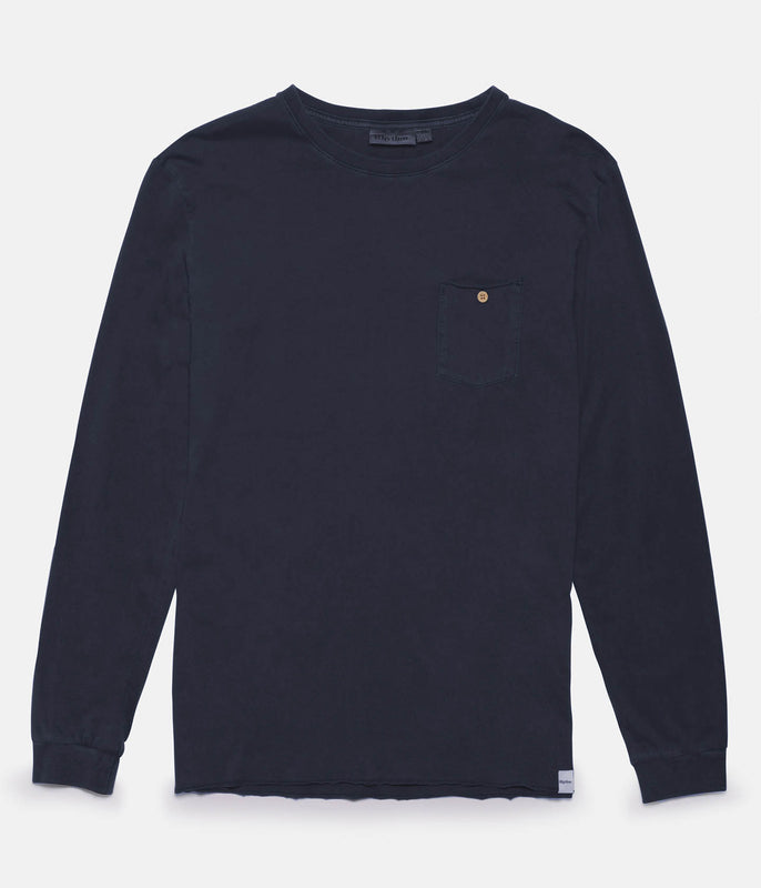 EVERYDAY WASH LS T-SHIRT DUSTED NAVY