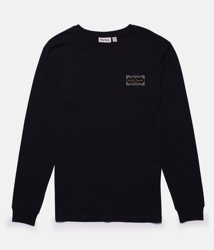 HERITAGE LS T-SHIRT BLACK