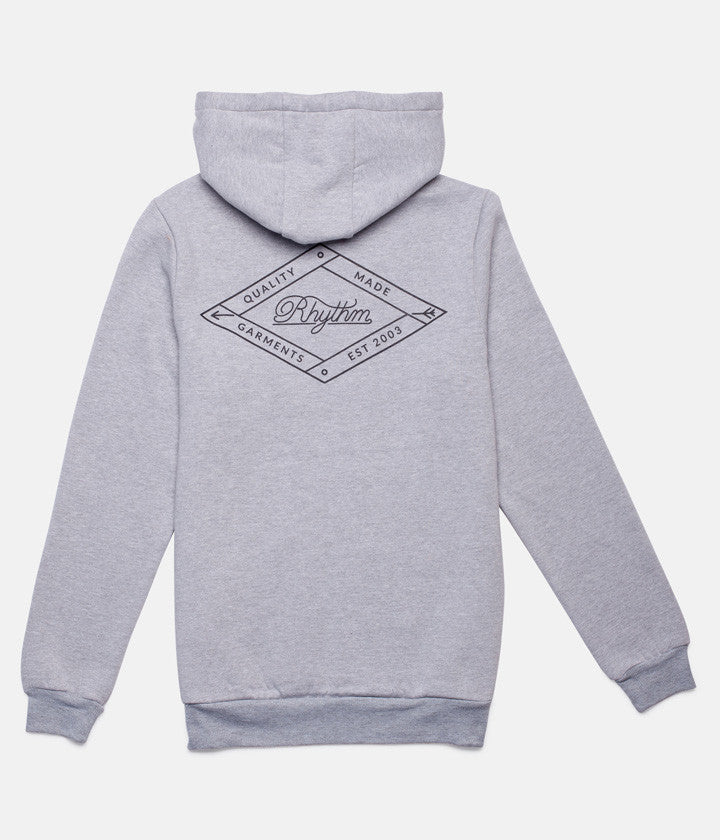LABEL HOOD GREY MARLE