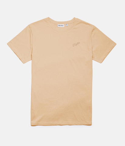 SCRIPT T-SHIRT DUSTY PEACH