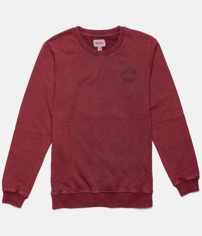 WASHED OUT PULLOVER VINTAGE RED