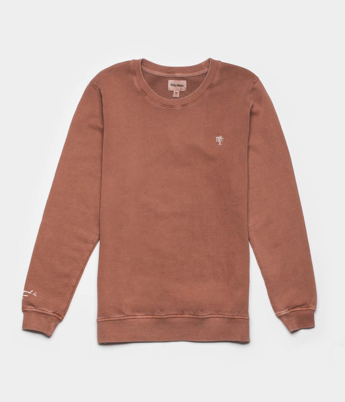 WASHED OUT PULLOVER DUSTED CLAY