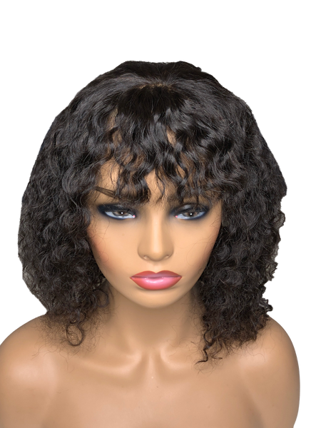 Bang Bob Wig Top Quality| Lace Front Wig| WAVY Brazilian Hair