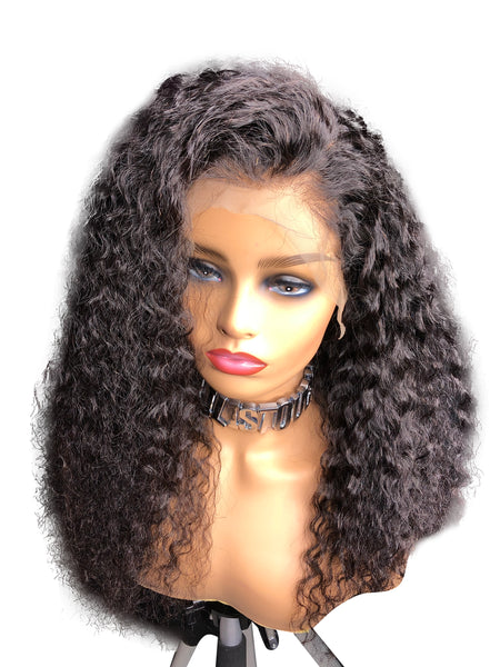Full Lace Brazilian Wig Curly |Transparent