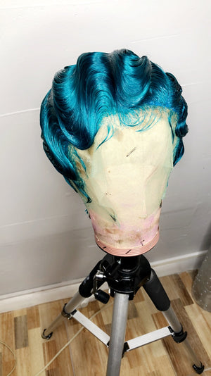Trina Vintage Style Custom Lace Front | Custom Color| Best Women Wig| Turquoise