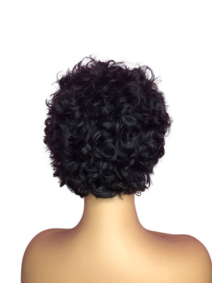 Nia Loose Curls Custom Made Short Style Wig-Curly Cut-Collection