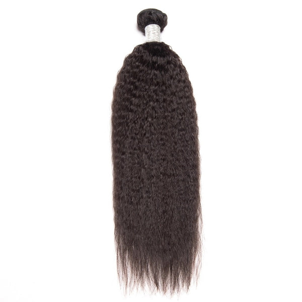 straight brazilian hair extension kinky