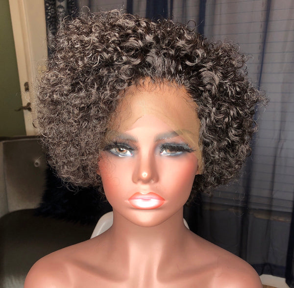 Nia Tight Curl Lace Front Wig 13x4 With 150% Density| Nia| Tight Curly Hair-Custom