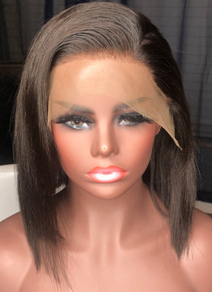 Angel- Bob Brazilian Hair Lace Front Wig Bob