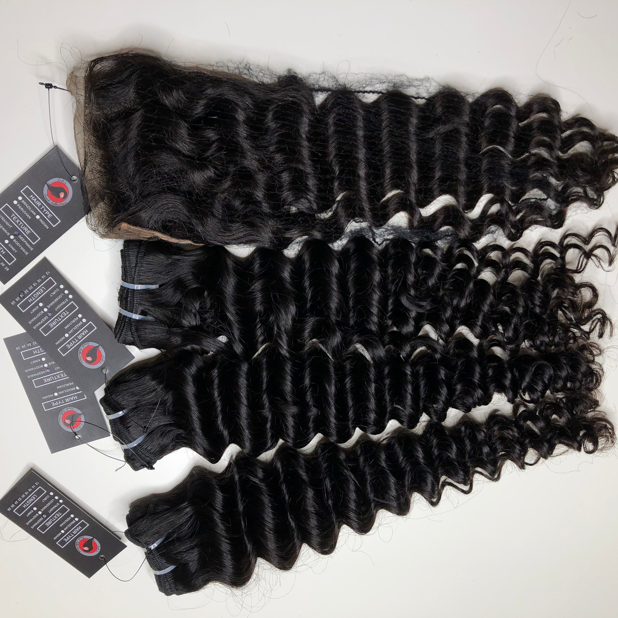 "Burmese deep Curly 3 Bundles 24"" and 4*4  18"" lace closure Unprossed"