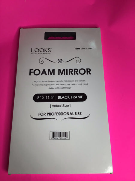 Black Foam Stylist Mirror