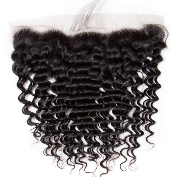 10A/Swiss Lace Frontal Deep Wave -Brazilian 10A