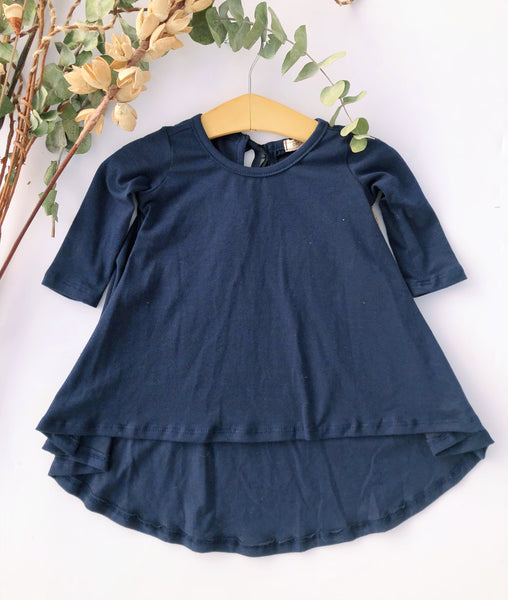 Tenley Dress in Navy ~ Baby