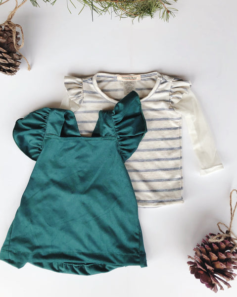 Vivi Dress in Spruce ~ Baby