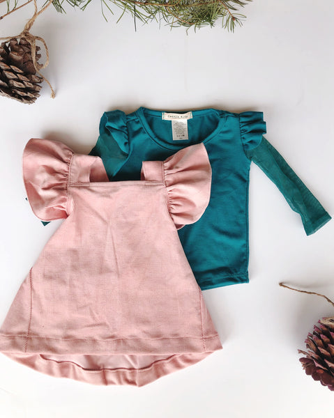 Vivi Dress in Pink Corduroy ~ Baby