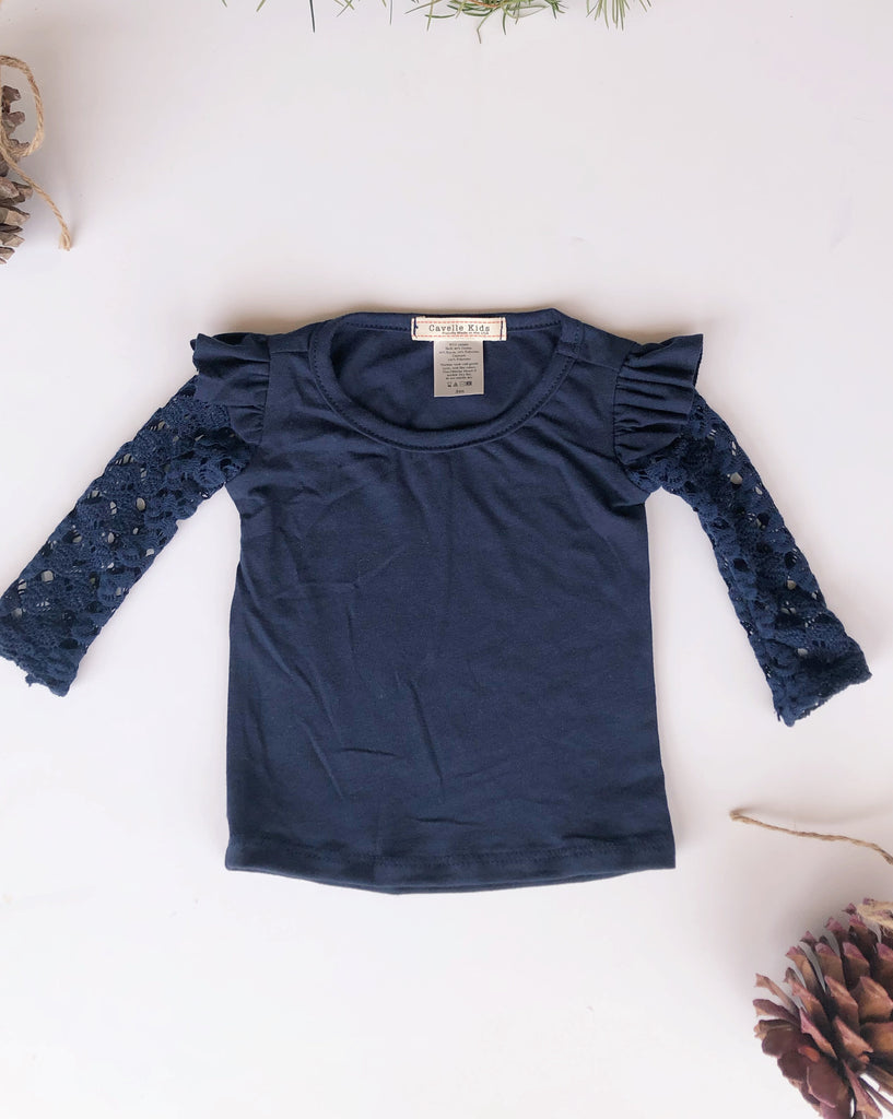 Aliza top in Oxford Blue ~ Baby