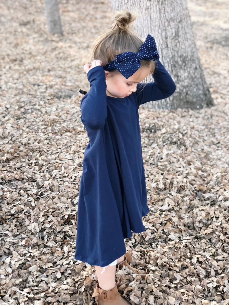 Tenley Dress in Navy